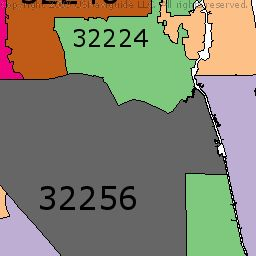 Zip Code Finder and Boundary Map.