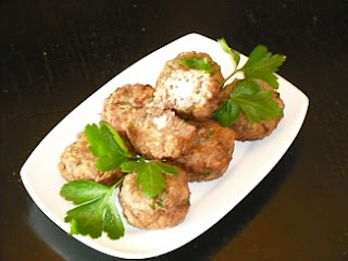 Greek Keftedakia (Meatballs) With Feta Cheese Stuffing And Ouzo: Feta Cheese, Authentic Greek Recipes, Cheese Stuffing, Cooked Locally, Greek Food, Greek Cuisine, Greek Keftedakia, Traditional Greek, Keftedakia Meatballs