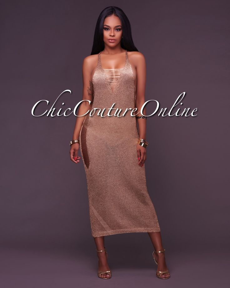 Chic Couture Online - Della Metallic Gold Crochet Cover-Up Dress, (http://www.chiccoutureonline.com/della-metallic-gold-crochet-cover-up-dress/)