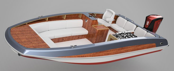 """20' 6"""", 22'  Party Boat - outboard deck boat-boatdesign"""