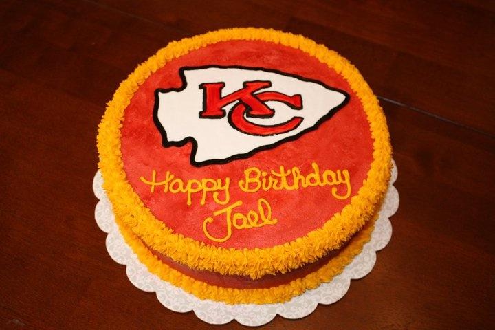 Kansas City Chiefs Football cake by Cake Imagination. Facebook: Cake Imagination - Amy Masini