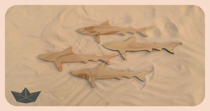 Pine sharks to hang on your walls