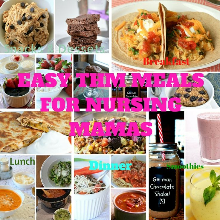Easy THM Meals for the Pregnant or Nursing Mamas to help keep you on plan!