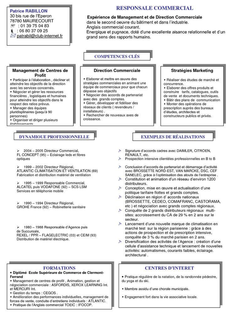 Model De Cv Responsable Commercial Doc Recherche Google Anglais Commercial Commercial