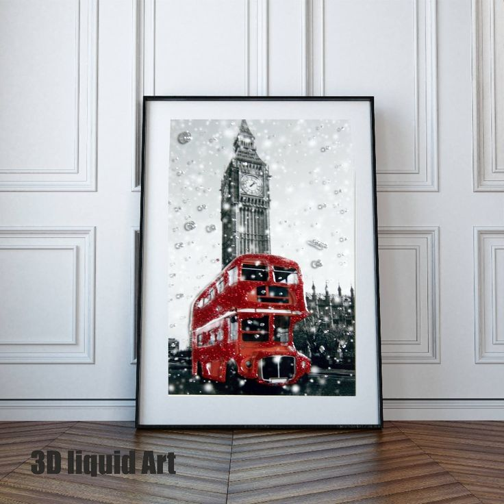 Excited to share the latest addition to my #etsy shop: London Skyline, London Wall Art Print, London Art Poster, London Art, Liquid Art, London Skyline Decor, Skyline City Wall Art, London Bus http://etsy.me/2yU7kaS