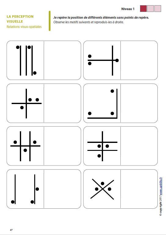Les capacités de perception visuelle pour les enfants dyslexiques
