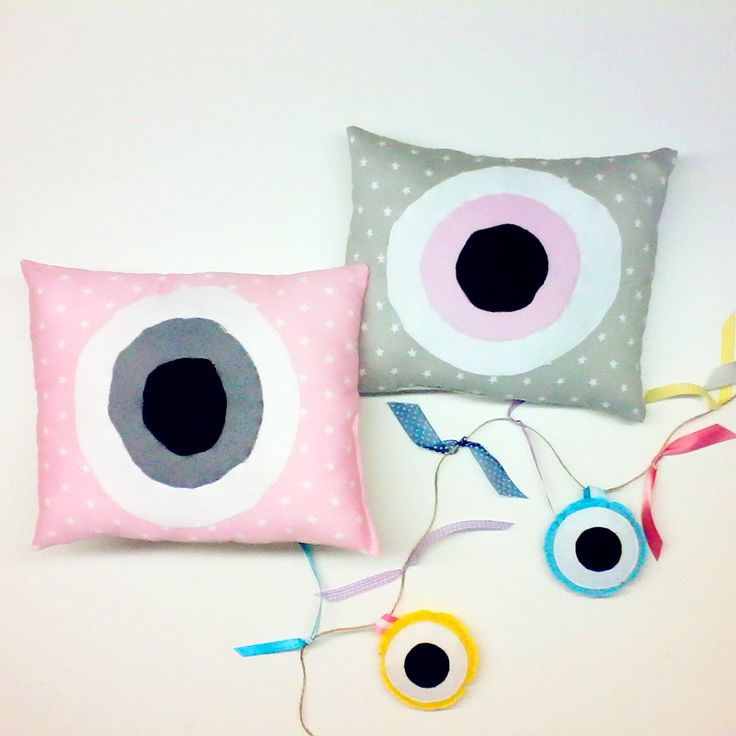 Pillows handmade Χειροποίητο Παιδικό Μαξιλάρι για την κούνια με Ματι