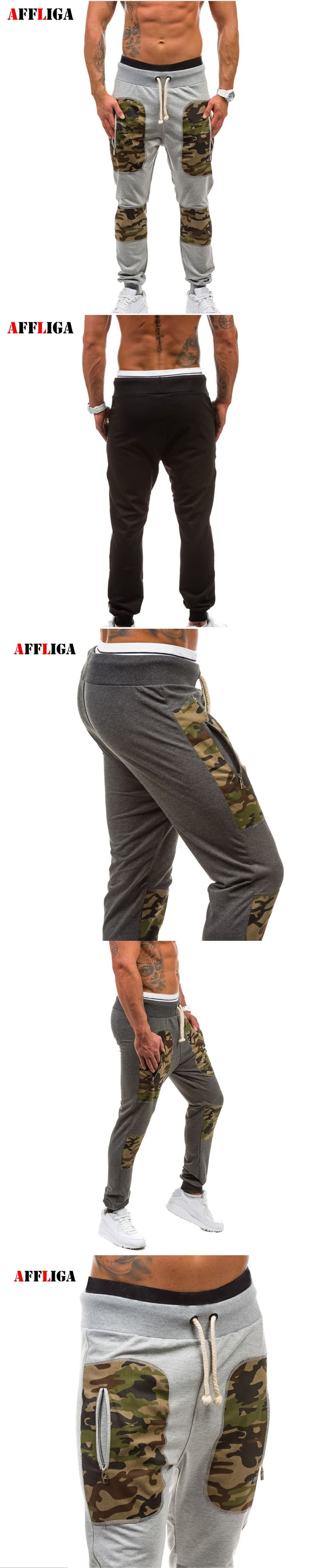 AFFLIGA Brand Mens Pants Casual Camouflage Sweatpants Outdoors Joggers Pants Trousers Men's Bodybuilding Clothing Sweatpants