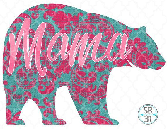 Mama Bear Printable Pdf Instant Download File Sublimation Digital