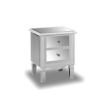 Juniper Mirrored 2 Drawer Bedside Table