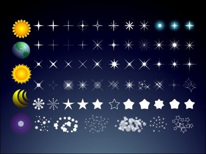 how to draw star in the sky | Free Stars Free vector 904.38KB
