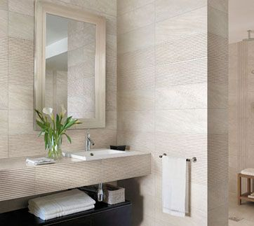 Carrelage effet pierre lefka decoceram le r seau des - Recouvrir du carrelage salle de bain ...