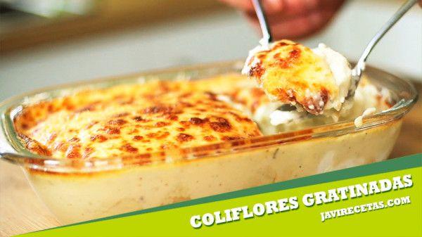 Estas Coliflores Gratinadas vienen genial de guarnición con unas pechugas de pollo y una ensalada. Anímate y prepáralas mañana!!