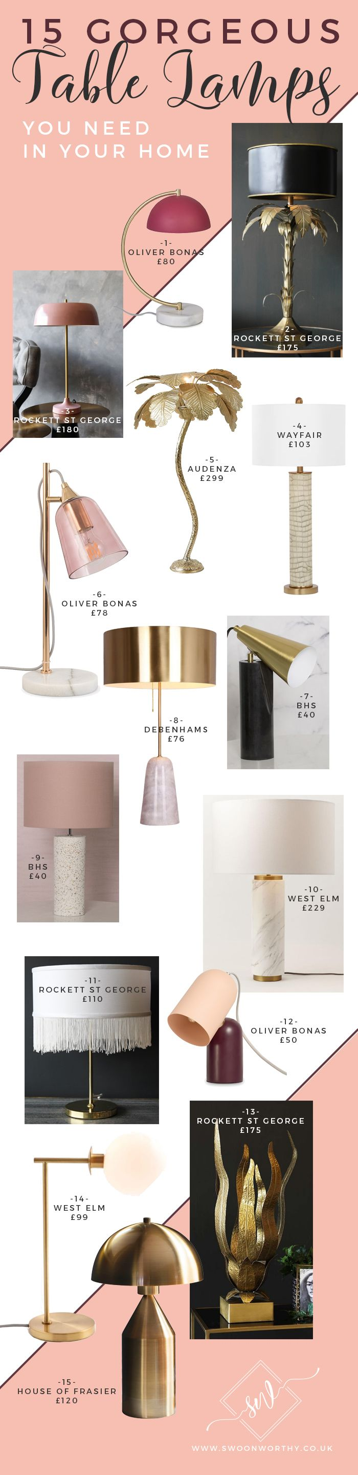 15 Gorgeous Table Lamps You Need In Your Home