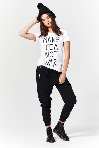 Coop Make Tea Not War Tee at Wendys Boutique
