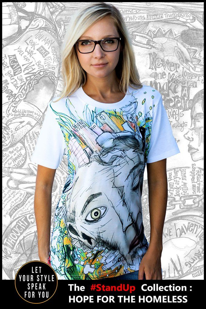 The Face of Homelessness - Women's Cotton Tee