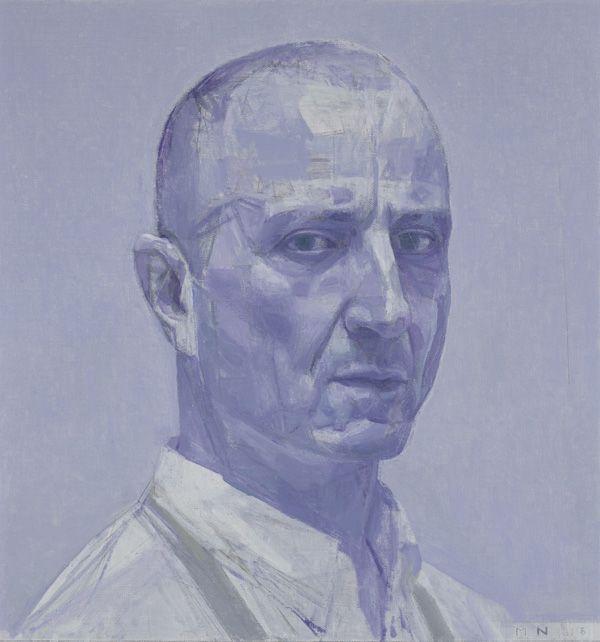 Nick Mourtzakis - Self-portrait: in violet