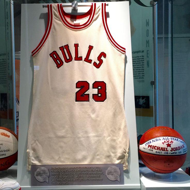 Check out this old school Michael Jordan jersey and his 1988 NBA All-Star Game MVP ball!  #nba #michaeljordan #allstar #chicagobulls #23 #airjordan #basketball #history
