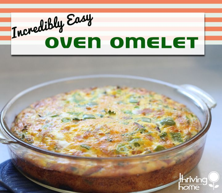oven omelet breakfast recipe  Experiment with different ingredients.