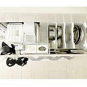 ブックスタンド/フランフラン/無印良品/キッチン収納/ニトリ/収納見直し隊…などに関連する他の写真