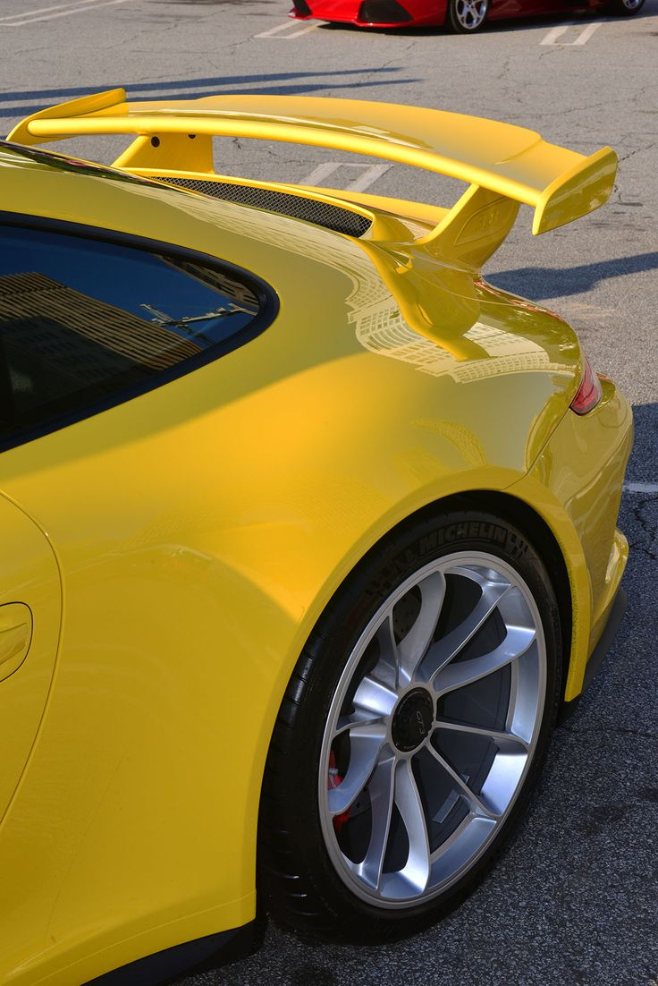 Yellow porsche gt3 991 atlanta streets porsche for Car painting atlanta