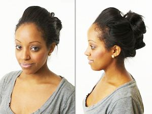 black hairstyles updo
