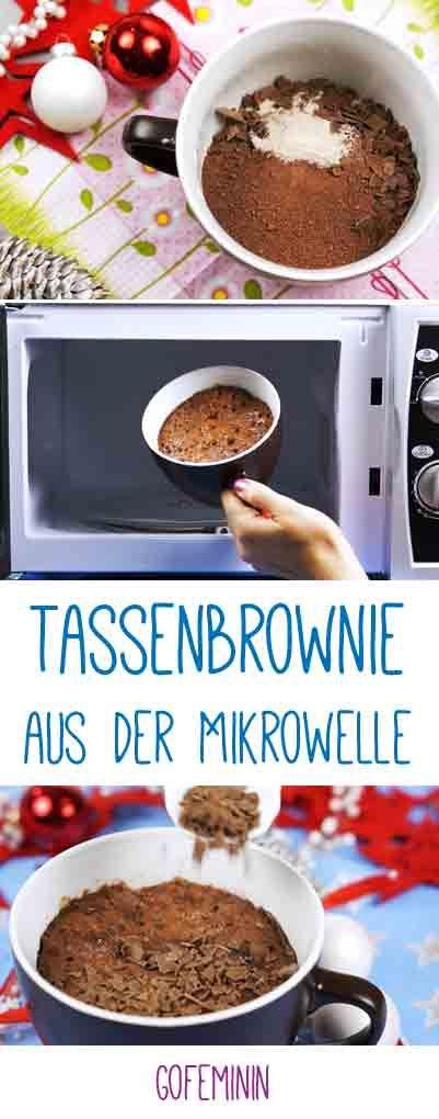 Super lecker und super einfach: Brownies aus der Mikrowelle! http://www.gofeminin.de/living-video/tassenbrownie-fuer-die-mikrowelle-n267936.html