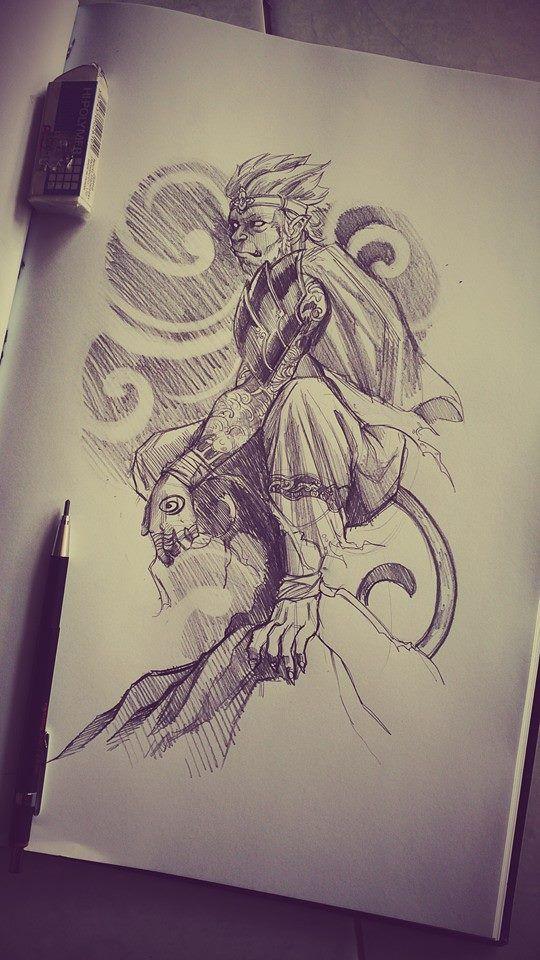 Thai Monkey King Sketch