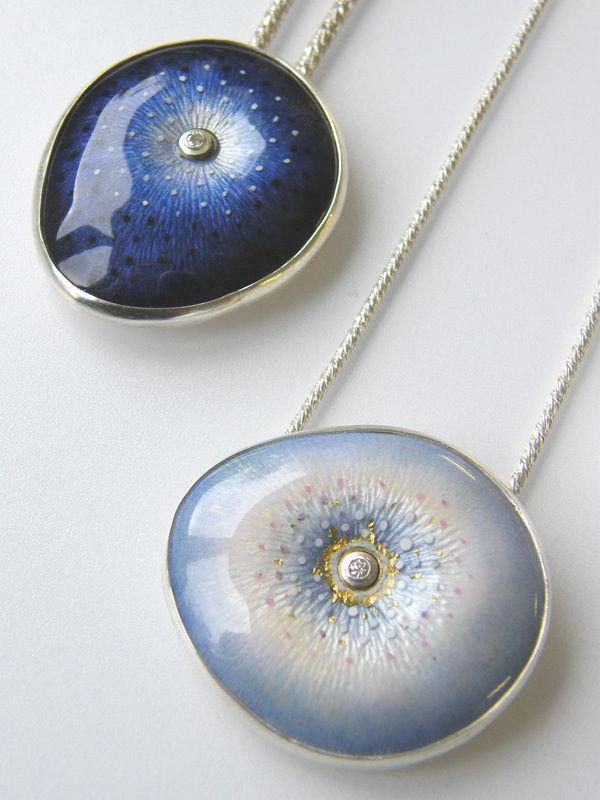 Ruth Ball - Enamel necklaces....could be reproduced in polymer clay...beautiful colours