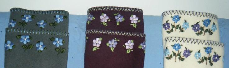 Inuit embroidered duffle socks by Ooleepeeka Arnaqaq