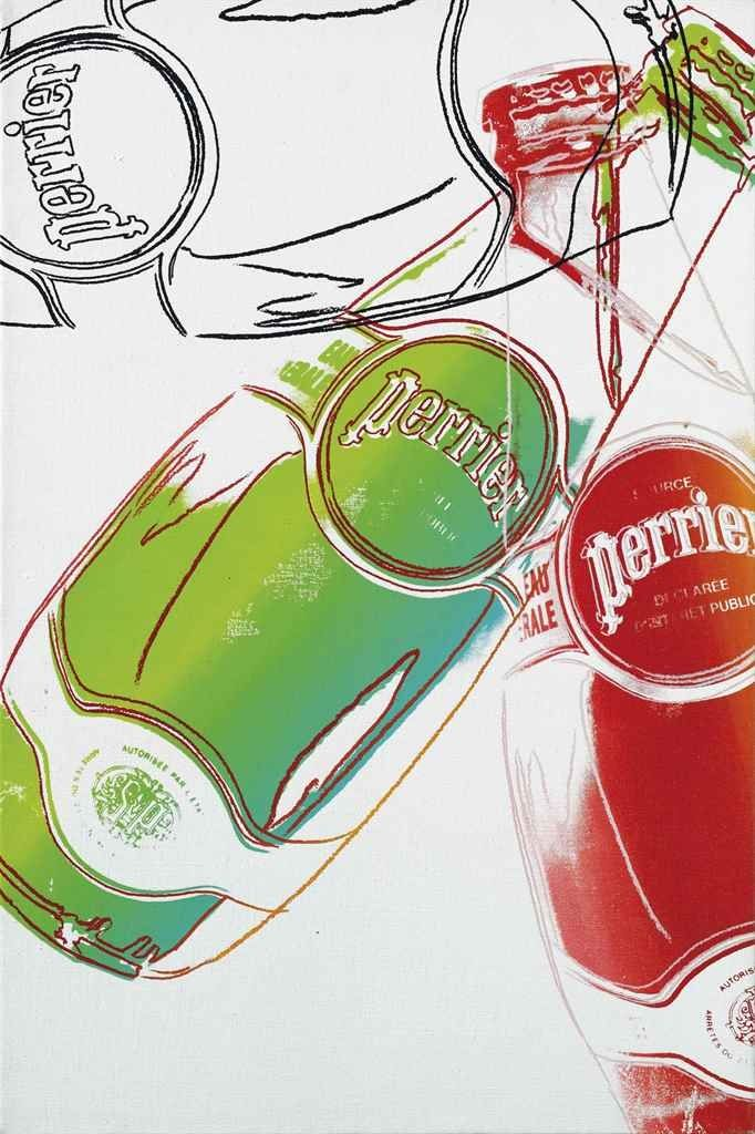 Andy Warhol: Perrier | Made of synthetic polymer and silkscreen ink on canvas