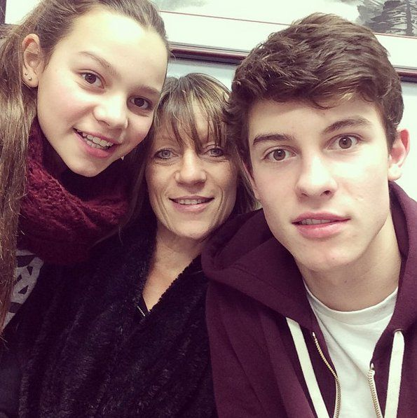 """Pin for Later: 16 Times Shawn Mendes Was Just Too Cute When He Shared a Sweet Family Photo """"Momma and sista"""""""
