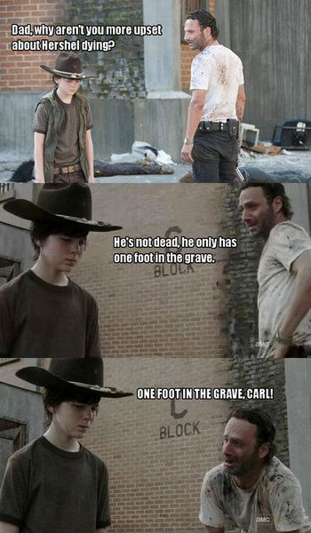 "The Walking Dead - the best ""dad"" jokes... FOREVER REPIN... although it is missing the shellfish coral joke :'D"