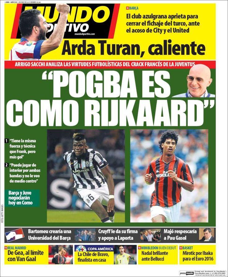 Portada Mundo Deportivo 1/07/2015