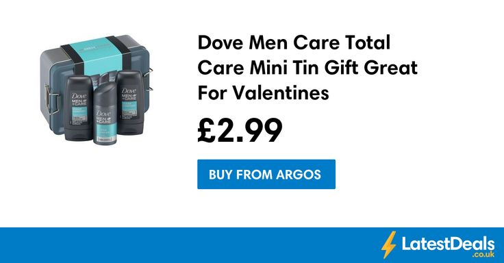 Dove Men Care Total Care Mini Tin Gift Great For Valentines, £2.99 at Argos
