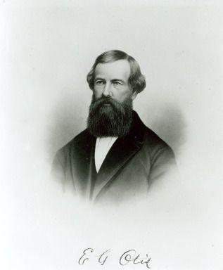 Portrait of Otis Elevator Company founder Elisha Otis, 1860