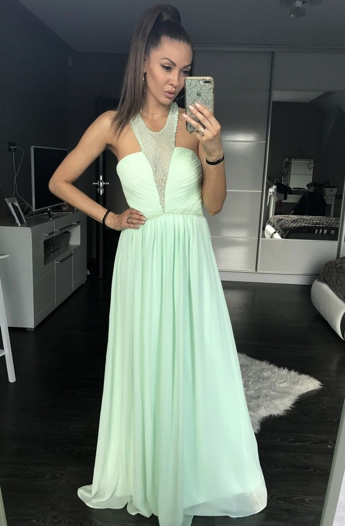 Mint evening dress EVA & LOLA