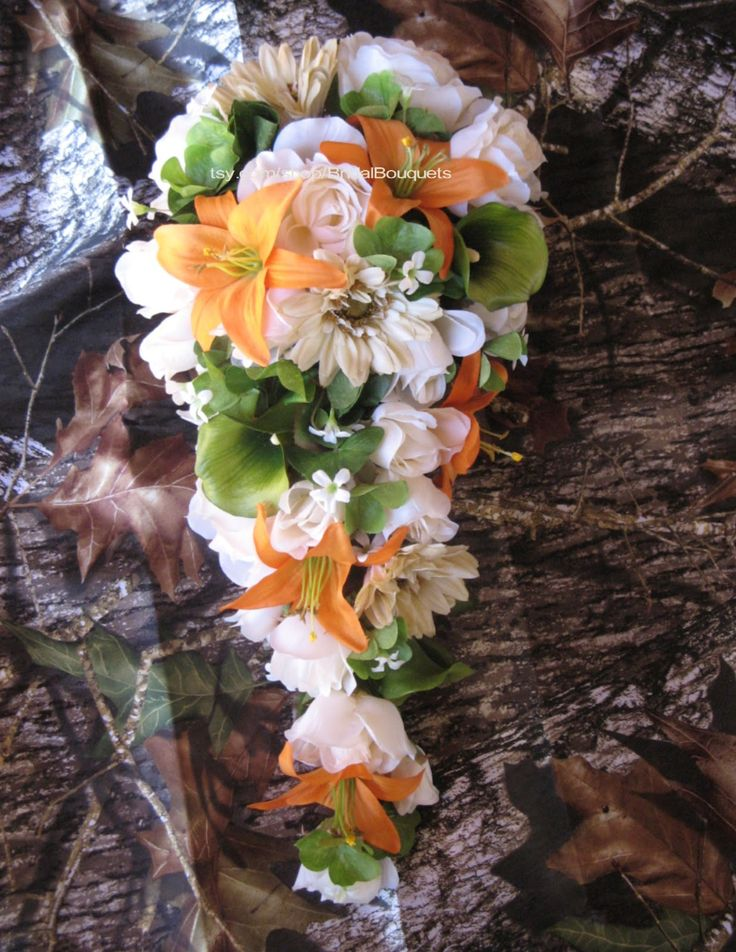 mossy oak camo wedding reception decorations | Wedding Flowers, Baby Showers & More: Camo Wedding Flowers & Ribbon