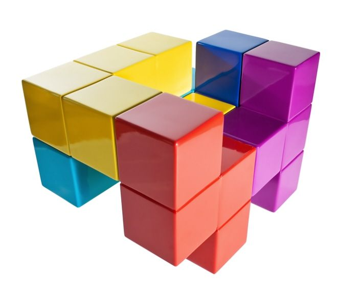 The Tetris Chair ... Almost better than my plan for a Lego couch