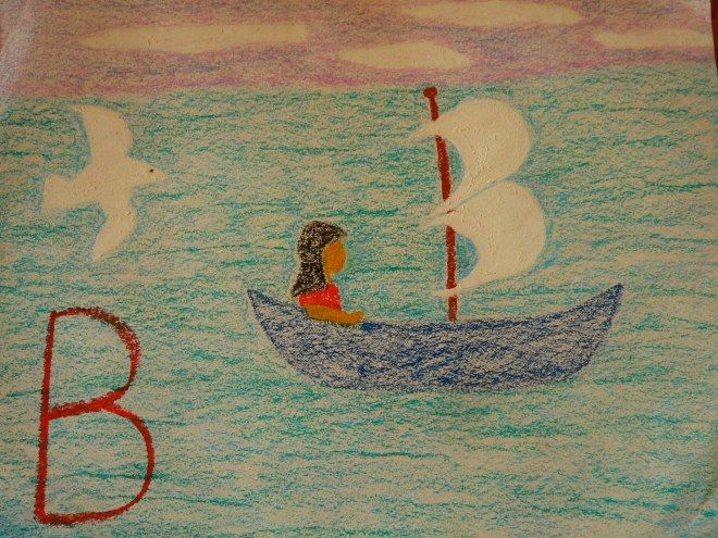 Learning the alphabet the Waldorf way ~ B is for boat ~ Birdies in their nest