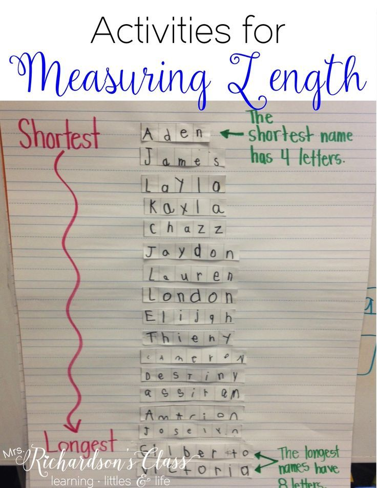Measuring Length activities that are PERFECT for little learners! My students loved this name activity, too!