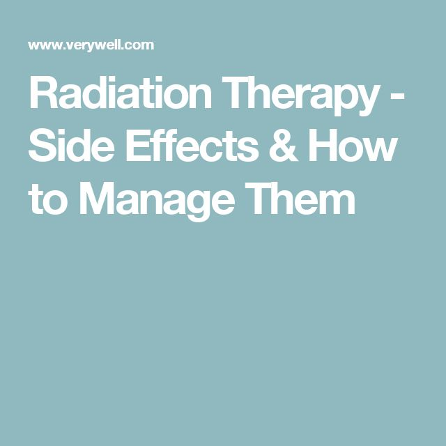 effects of radiation therapy