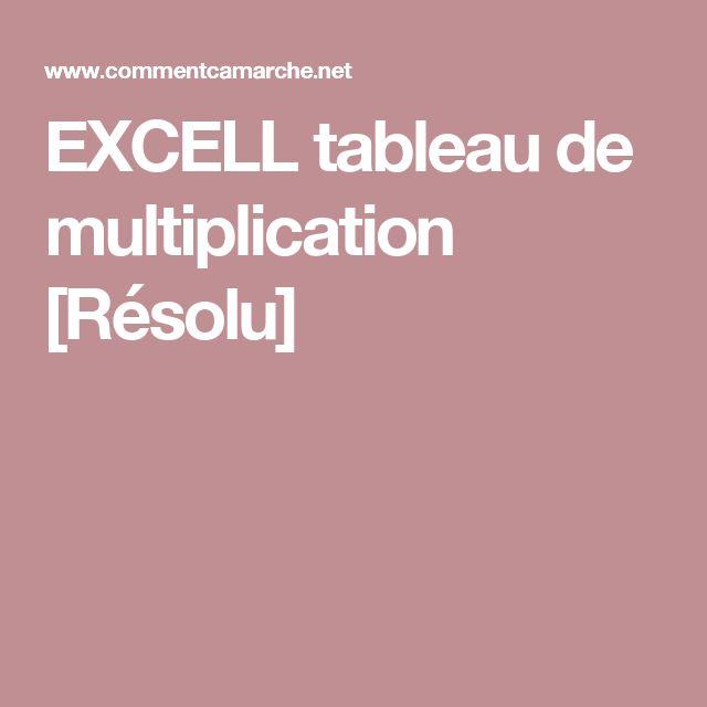 17 meilleures id es propos de tableau de multiplication for Tableau de table de multiplication