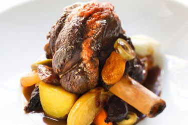 Aromatic lamb shanks - serve with roast veges or mash