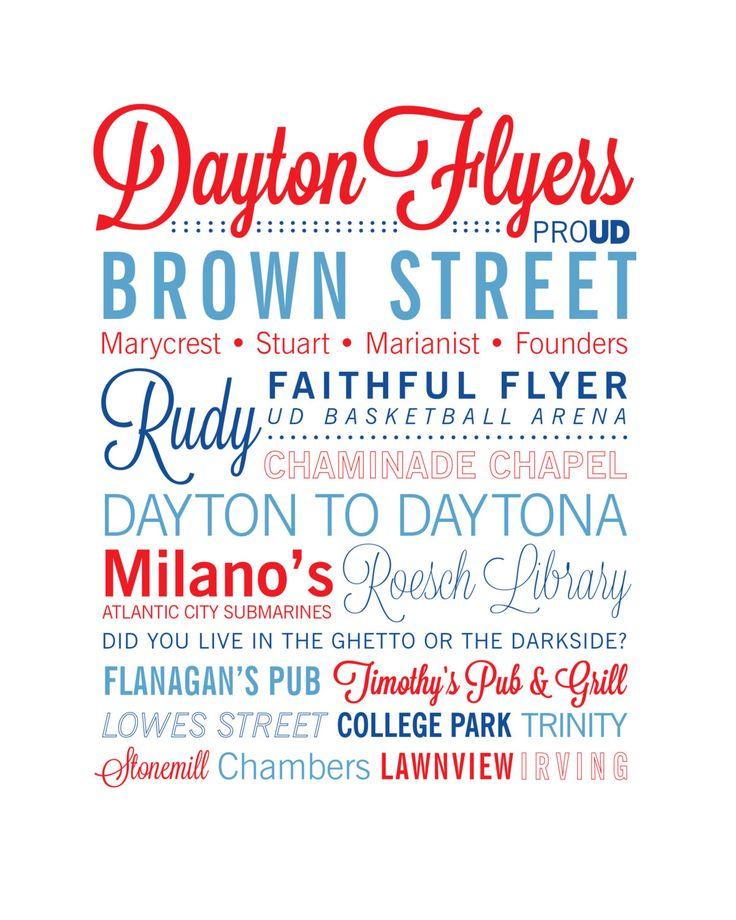 University of Dayton 8x10 print by KeysAndNeedles on Etsy