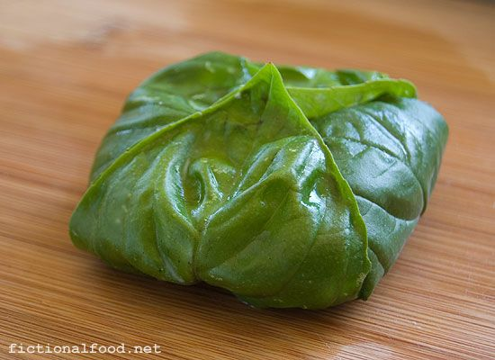 Basil Wrapped Goat Cheese (her gift to Katniss on Reaping Day)Basil ...