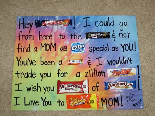 Mother's Day Candy Bar Poster