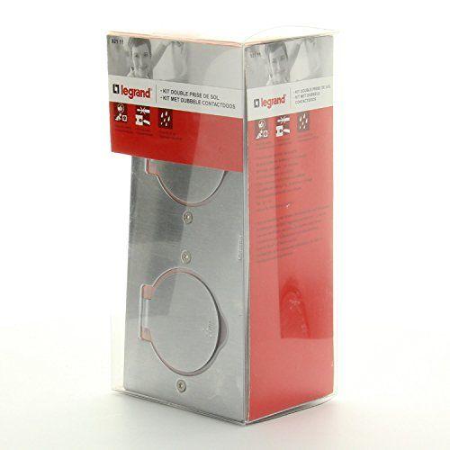 Legrand – Kit prise de sol inox 2 Pôles + Terre: Double prise inox étanche avec clapet de protection (ouverture 180°) Indice de protection…