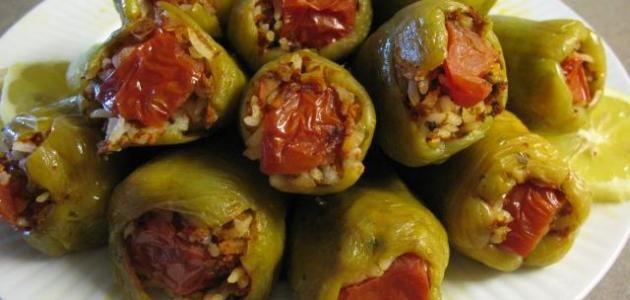 طريقة عمل فلفل محشي Stuffed Peppers Egyptian Food Food