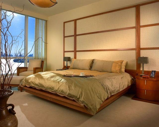 schlafzimmer klassisch traditionell japanisch Shoji wand akzent